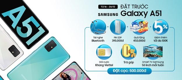 Đặt trước Samsung A51 tại Viettel Store