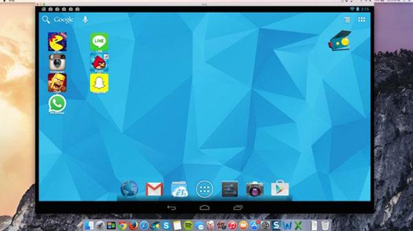 Andy for Mac trang bị đầy đủ các tính năng hoạt động trên hầu hết các thiết bị