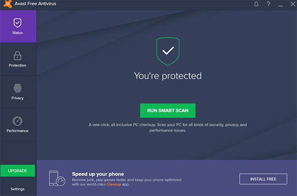 Avast là phần mềm hỗ trợ diệt virus miễn phí dành cho máy Mac