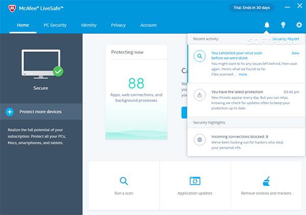 McAfee Internet Security là phần mềm bảo vệ máy tính Mac