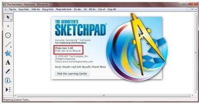 Phần mềm vẽ đồ thị hàm số Sketchpad